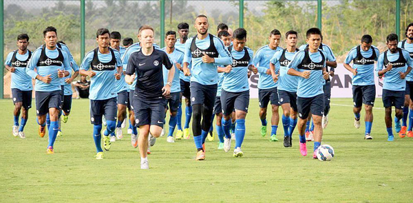 Indian football team training