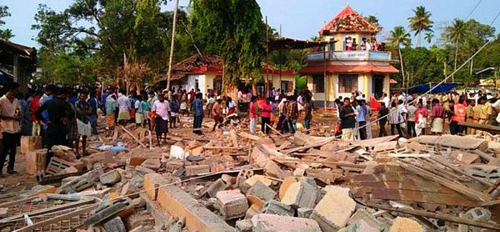 Kerala is yet to recover from the shock of the tragedy that claimed 112 lives but the blame game has already begun. A closer look at the order issued by the Kollam district administration on the application of the Puttingal Devi temple committee for conducting fireworks points out many a lapse. In fact, in its order, the Kollam district administration had explicitly denied permission for any sort of fireworks as part of the Meena Bharani festival at the temple, contrary to the temple committee