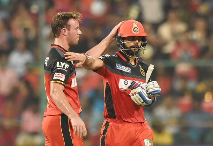 Kohli and AB de Villiers