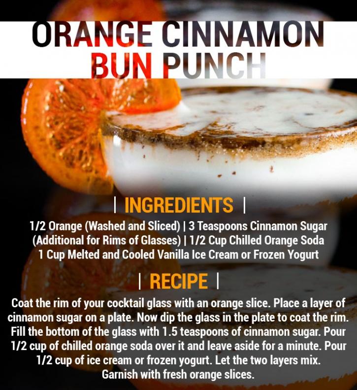 orange cinnamon bun punch