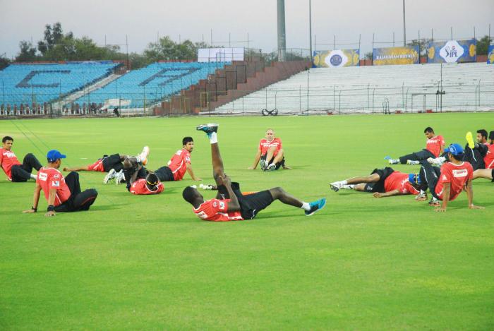 IPL players training at the Sawai Mansingh Stadium (file pic)