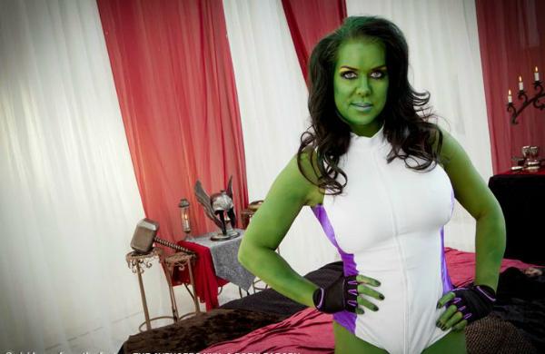Chyna plays She hulk #RIPCHYNA