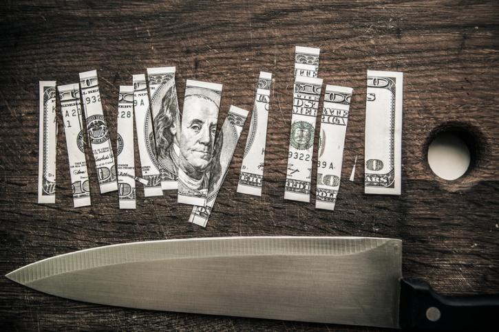 Money blade knife