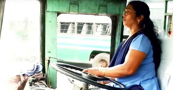 Asia's First Woman Bus Driver Goes Where Men Go