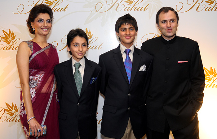 Abdullah with wife and children