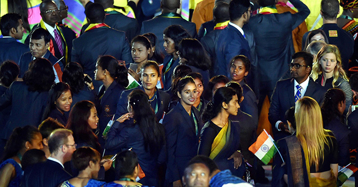 Team India at the opening ceremony