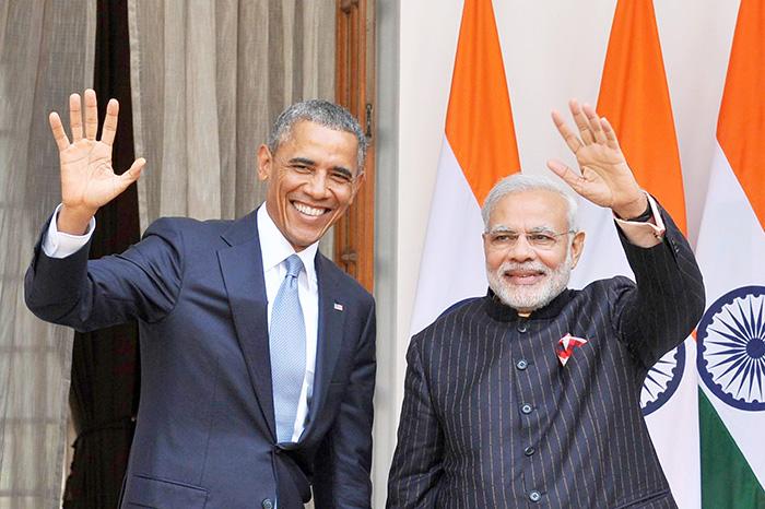 Brack Obama and Narendra Modi