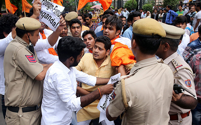 Protest Against Amnesty International India