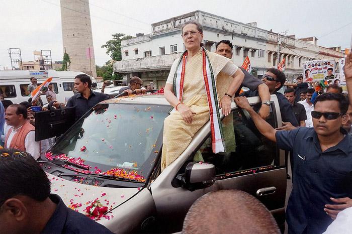 Congress president Sonia Gandh