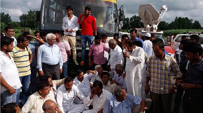 Protest at Bulandshahr