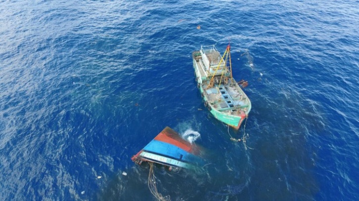 Sinking of illegal trawlers