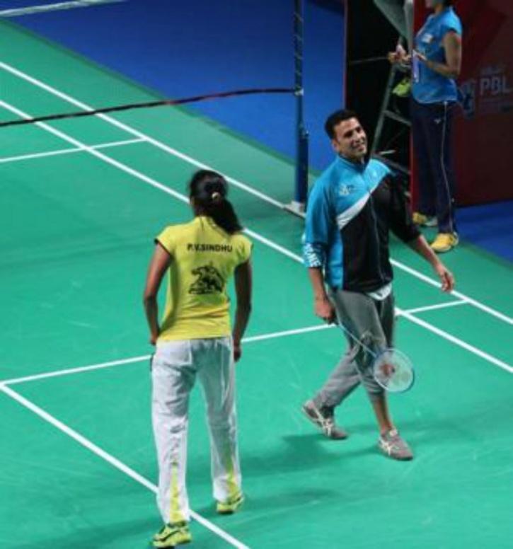 Akshay Kumar and PV Sindhu