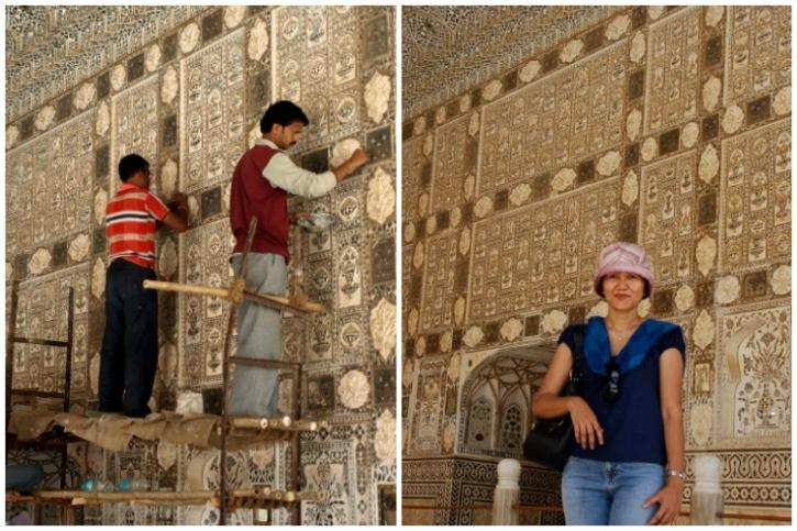 Restoration of Sheesh Mahal