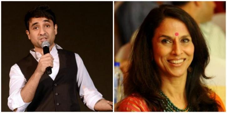 Shobhaa De and Vir Das