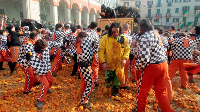 Battle of the Oranges, Italy