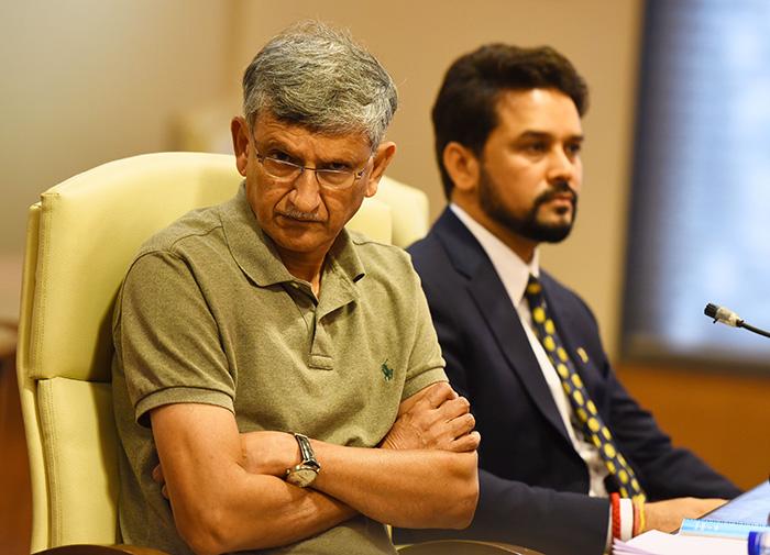 Ajay Shirke with Anurag Thakur