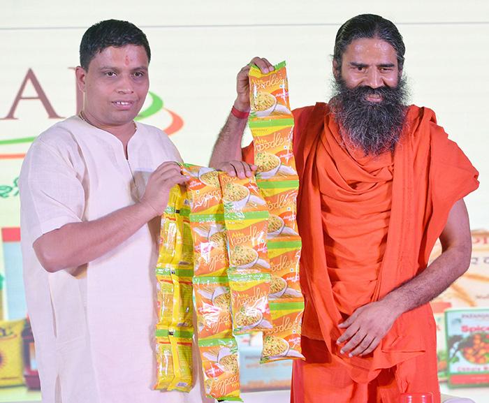 Balkrishna and Baba Ramdev