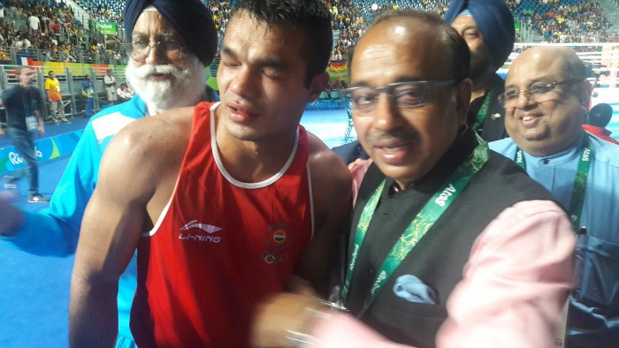 Sports Minister Vijay Goel