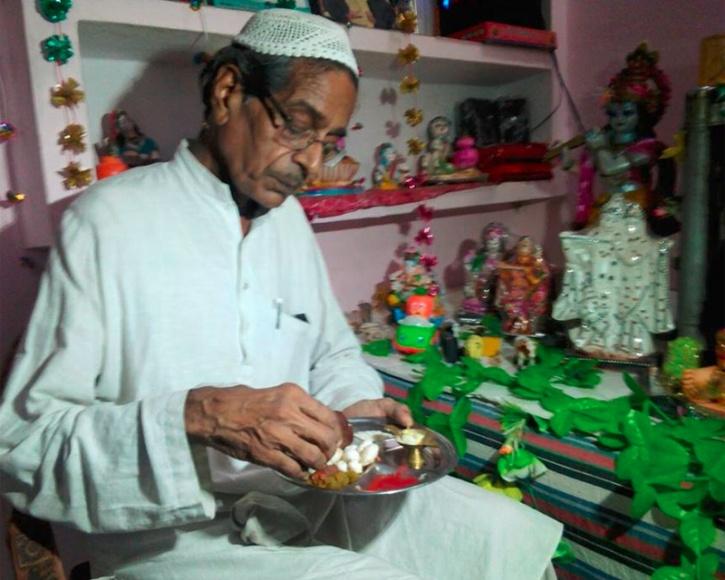 Muslim family celebrates Janmashtami