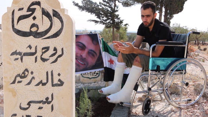 Syrian Journalist Reports From Wheelchair
