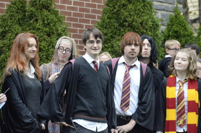 students dressed up HP characters