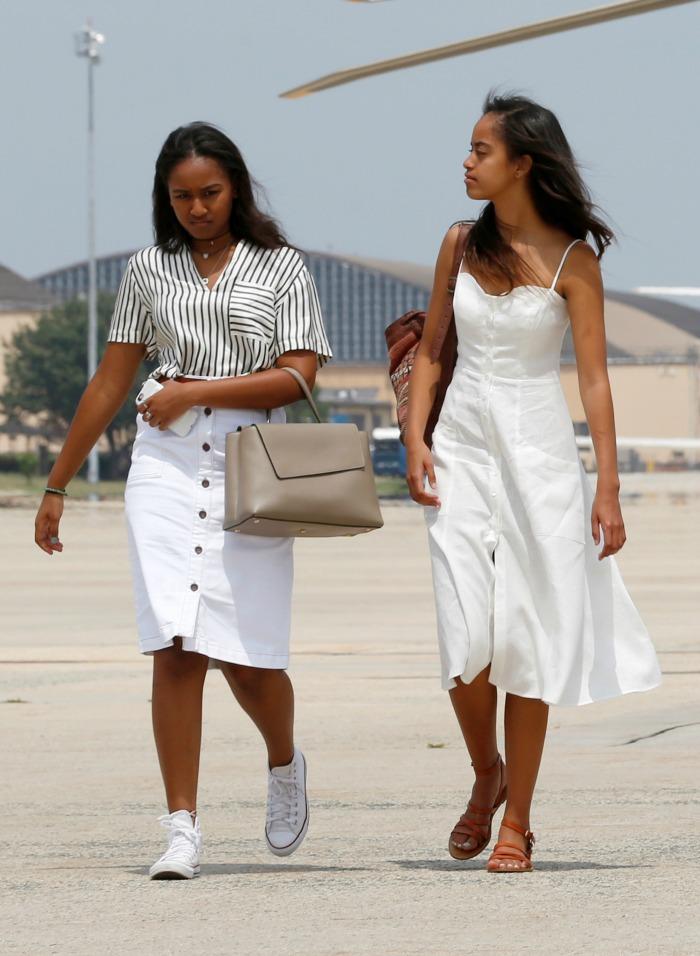 Malia and Sasha