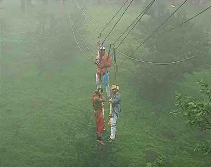 Kolhapur couple marries on ropeway