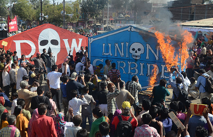 Protest in Bhopal