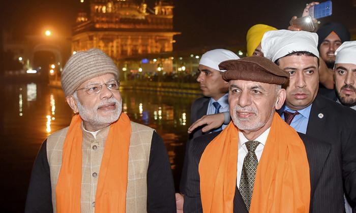 PM Narendra Modi And  Afghan President Ashraf Ghani