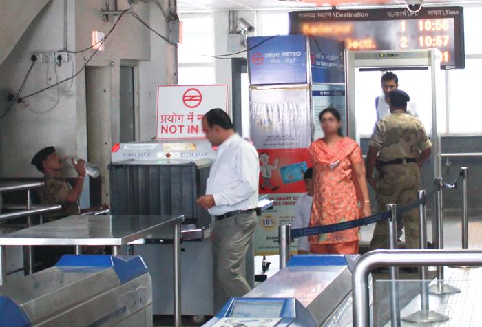 Delhi metro woman