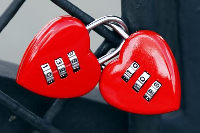 Lock in Heart Shape