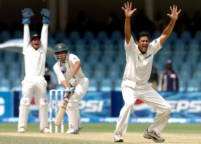 Anil Kumble and Parthiv Patel