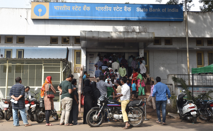 Angry cashless people attack banks
