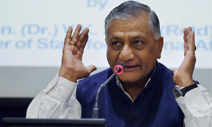 Minister of State for External Affairs V K Singh