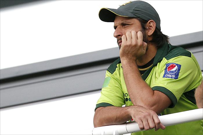 Shahid Afridi sad
