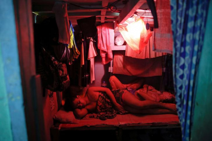 Inmates sleep inside Quezon City Jail in Manila, Philippines.