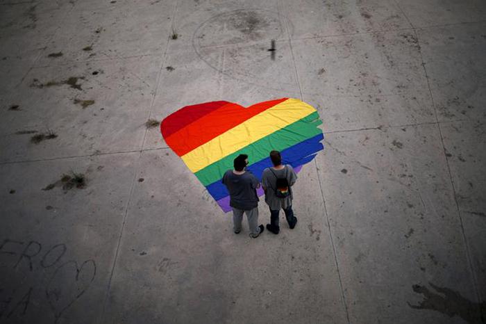 LGTB Flag in Heart Shape
