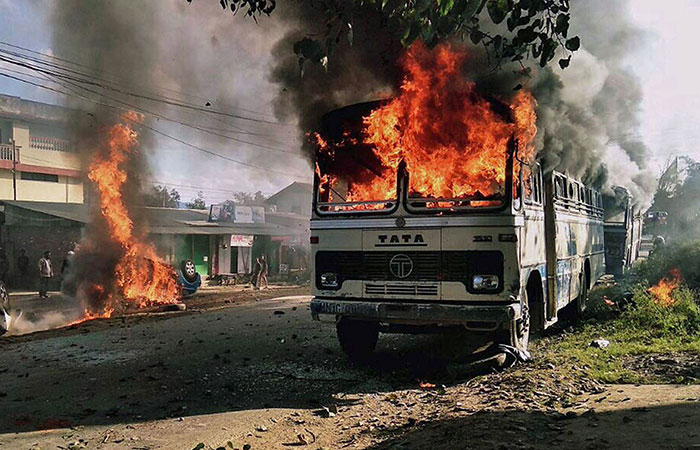 Fire on Bus