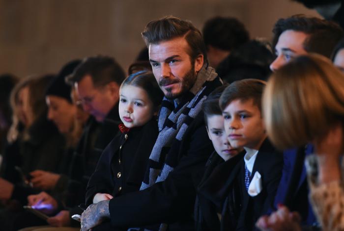 Beckham with kids