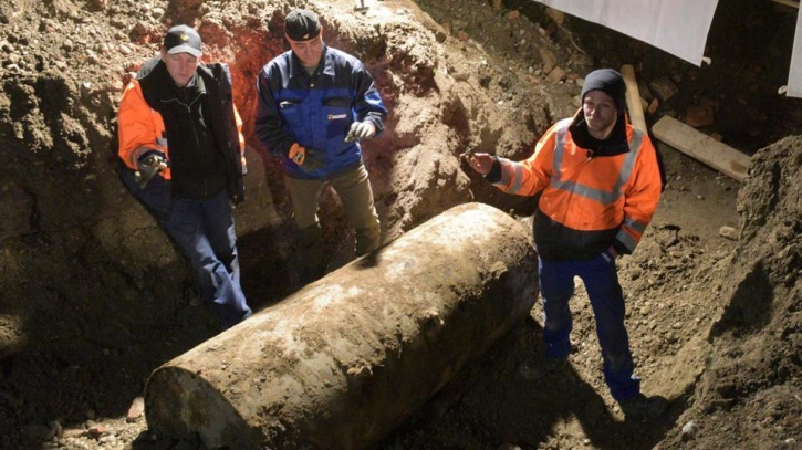 unexploded WWII bomb