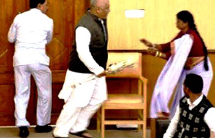 Tripura MLA Grabs Speaker's Mace