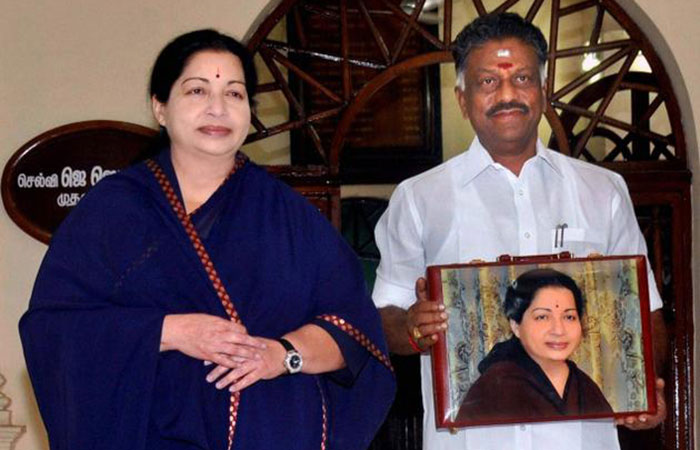 Jayalalithaa and O Panneerselvam