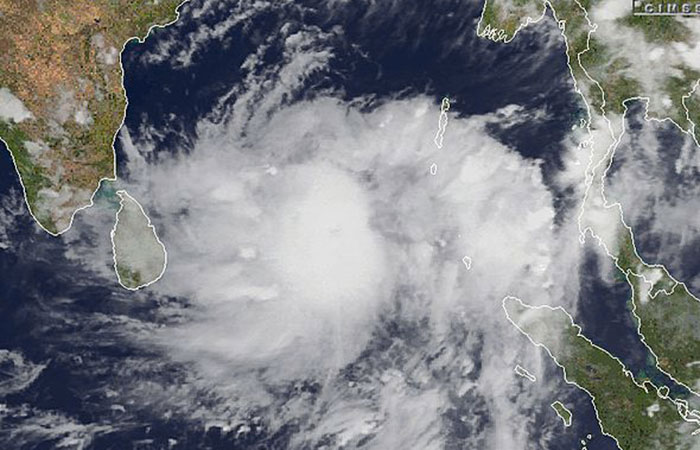 Cyclone in Andamans
