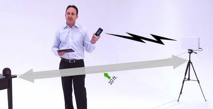 Energous Wireless Charging Demonstration