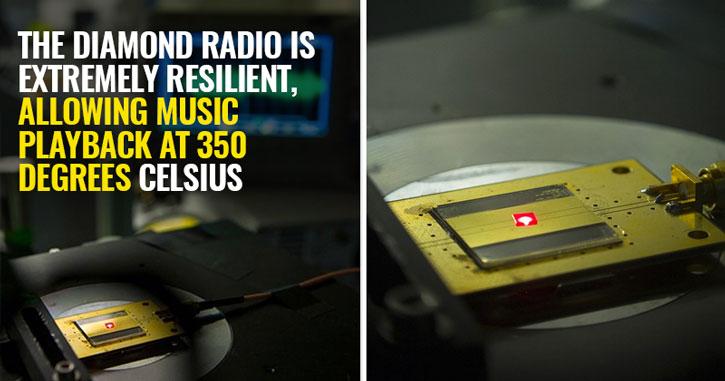 Harvard tiny diamond radio
