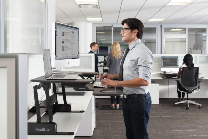 install standing work desk