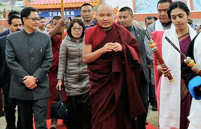 Kiren Rijiju with Karmapa