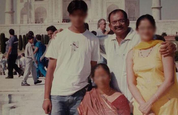 Mahesh Shah with His Family