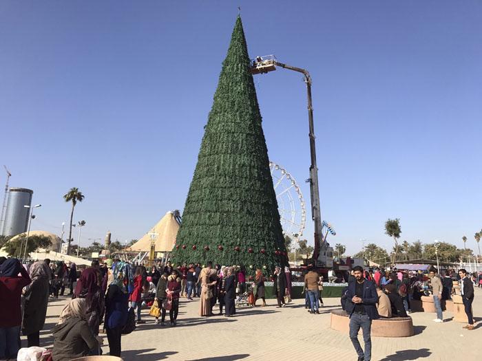 Tallest Christmas Tree In Baghdad