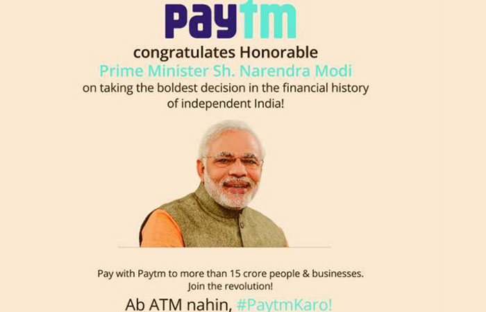 Paytm Use Modi Ji Photo In Ad